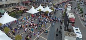 Tekkeköy sokakları olimpiyat müsabakaları ile renklendi