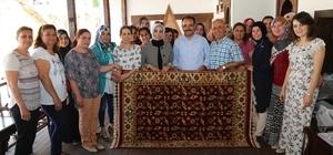 Tarihi Uşak halıları dokuma kurslarıyla yaşatılıyor