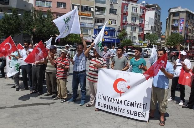Burhaniye'de Mescidi Aksa'ya Sahip Çık mitingi yapıldı