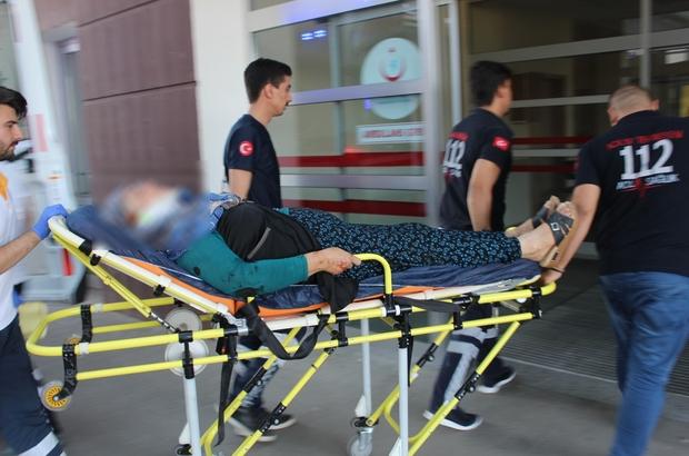 Motosikletten düşen kadın yaralandı