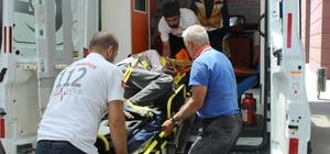 Görme engelli yaşlı adam balkondan düştü