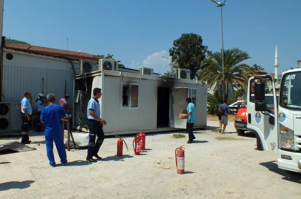 Anamur Devlet Hastanesi'nde yangın paniği