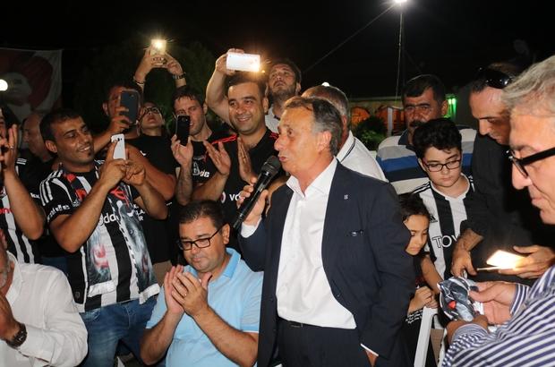 Beşiktaş taraftarı şampiyonluğu Milas'ta kutladı