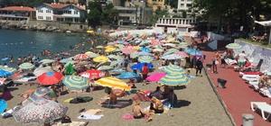 Hava sıcaklığı 28 dereceyi geçti, plajlar doldu taştı