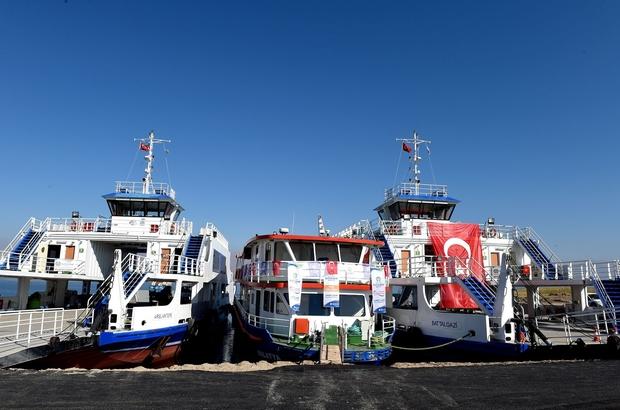 Baraj gölü üzerinde taşınan araç sayısı arttı