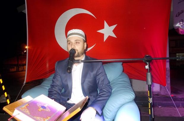Mihalıççık'ta 15 Temmuz için Kur'an-ı Kerim okutuldu