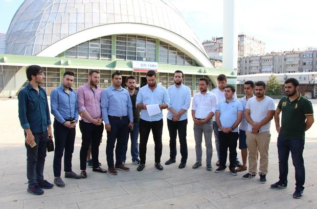 AK Parti Gençlik Kolları İsrail'i protesto etti