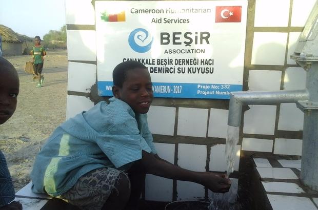 Çanakkale Ensar Vakfı Şubesi Afrika'da su kuyusu açtı