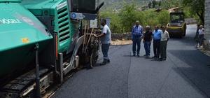 Akseki Akşahap yoluna sıcak asfalt