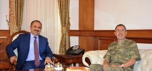 Tümgeneral Kocaoğlu Vali Kaban'ı makamında ziyaret etti
