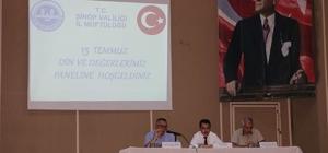 Sinop'ta 15 Temmuz paneli