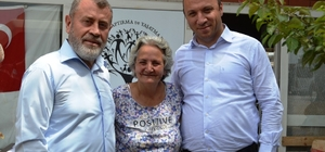Ayvalık'ta Müftü Tosun ve MEB Müdürü Bahadır'dan Şefkatli Ellere ziyaret