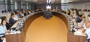 Koordinasyon Kurulu Vali Kalkancı başkanlığında toplandı