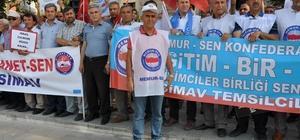 İsrail'in Mescid-i Aksa'da Müslümanlara uyguladığı şiddet Simav'da protesto edildi