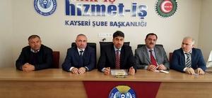 """Hizmet İş Şube Başkanı Çelik: """"Kamuda çalışan 726 bin taşeron işçinin sessiz çığlıklarına kulak verilmesini istiyoruz"""""""
