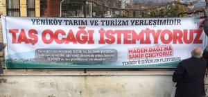 Yeniköy'de taş ocağı tartışması