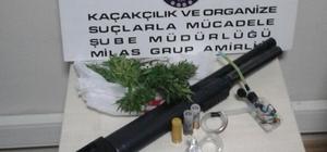 Milas'ta şüpheli araçtan pompalı tüfek çıktı