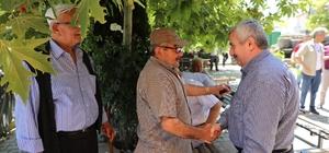 Başkan Baran, esnaf ve vatandaşları ziyaret etti