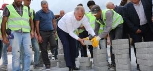 Büyükşehir'den ilçelere beton kilit parke taşı