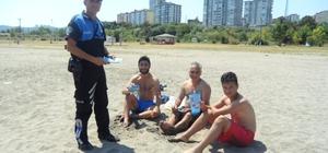 Polis boğulmalara karşı bilgilendirdi