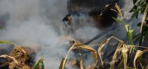 Erbaa'da ahır yangını