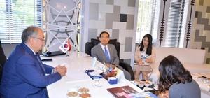 Kore Cumhuriyeti Ankara Büyükelçisi Yunsoo Cho'dan, Başkan Kutlu'ya ziyaret