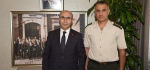 İl Jandarma Komutanı Albay Yılmaz'dan, Vali Demirtaş'a veda ziyareti