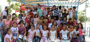 Çocuklardan Başkan Akın'a sevgi seli