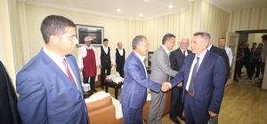 Vali Elban belediye ve belde başkanlarıyla bir araya geldi