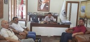 Başkan Yalçın, Sakarya Gazetesi'nin sahibiyle bir araya geldi