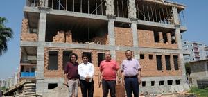 Başkan Tollu, inşaası süren kreş ve aqua park çalışmalarını inceledi