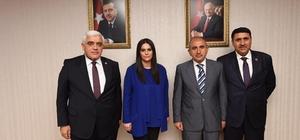 Kilis heyeti Bakan Sarıeroğlu'nu ziyaret etti