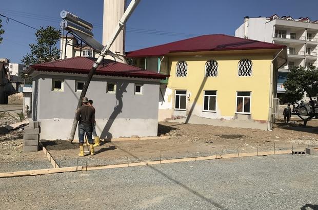 Giresun'da Abacıbükü Cami'nin çevresi değişiyor