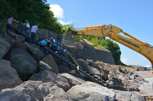 Görele Belediyesi'nden ilçe plajlarına yönelik çalışma