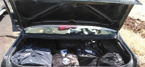 Otomobilden 2 bin 350 paket kaçak sigara ele geçirildi