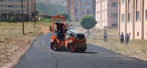 Bitlis'te yol asfaltlama çalışması