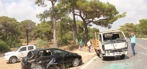 anavgat'ta trafik kazası: 1 yaralı
