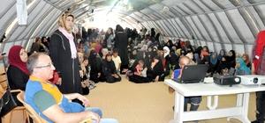 Kampta kalan Suriyelilere erken evliliğin sakıncaları anlatıldı