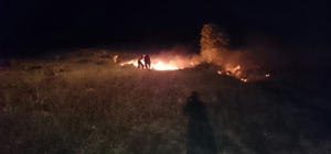 Ormanlık alanı ateşe verip kaçtılar