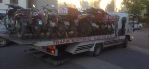 Trafiğe uygun olmayan motosikletlere geçit yok