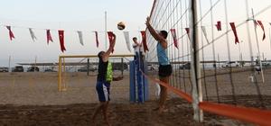 Manavgat'ta Plaj Voleybolu heyecanı başladı