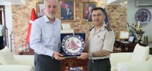 Albay Mustafa Uğur veda ziyaretlerine başladı