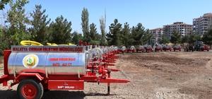 Orman yangınları ile mücadele için su tankerleri dağıtıldı