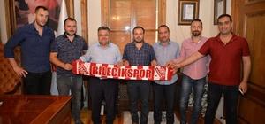 Bilecikspor'dan Başkan Yağcı'ya ziyaret