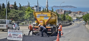 Maltepe'ye 6 ayda 35 bin ton asfalt