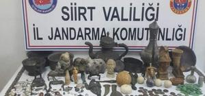 Siirt'te tarihi eser niteliği taşıyan eşyalar ele geçirildi