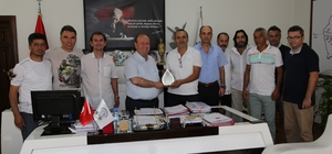 Masterlardan Başkan Özakcan'a teşekkür ziyareti