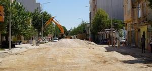 Eski Kahta Caddesinde altyapı çalışmaları devam ediyor