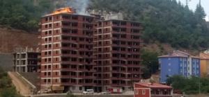 Gümüşhane'de çatı yangını