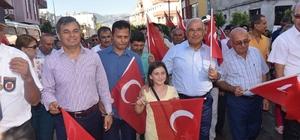 Anamur'da festival yürüyüşü ve Orhan Hakalmaz konseri